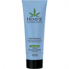 HEMPZ intensyviai drėkinantis šampūnas kasdienai Triple Moisture - Rich Herbal Replenishing Shampoo , 265 ml
