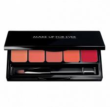 MAKE UP FOR EVER 5 Lūpų dažų paletės su sepetėliu, 5 Lipstick palette, 5 x 0,8 g