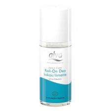 ALVA rutulinis dezodorantas su alūno kristalais (kokosas-laimas) Roll on Coconut-Lime, 50 ml