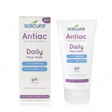 SALCURA prausiklis mišriai, riebiai, į aknę linkusiai odai Antiac Daily Face Wash, 150 ml