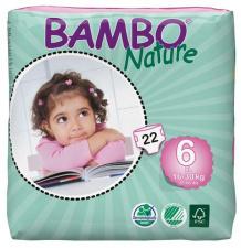 BAMBO sauskelnės NATURE XL, 16-30 kg., 22 vnt