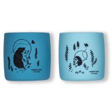 Daugkartiniai neplastikiniai (silikoniniai) puodeliai Ežiukai, 2 vnt
