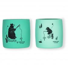 Daugkartiniai neplastikiniai (silikoniniai) puodeliai Meškiukai, 2 vnt