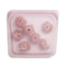 Stasher daugkartinio naudojimo silikoninis sumuštinių maišelis  ROŽINIS KVARCAS, 1 vnt