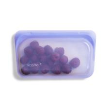 Stasher daugkartinio naudojimo silikoninis užkandžių maišelis AMETISTAS, 1 vnt.