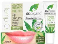 Dr. Organic lūpų serumas su kanapių aliejumi, 10 ml