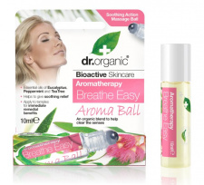 Dr.Organic aromaterapinis rutuliukas Breathe Easy , 10 ml