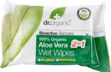 Dr. Organic drėgnos servetėlės su alavijais, 20 vnt.