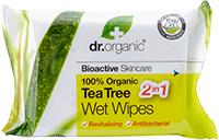 Dr. Organic drėgnos servetėlės su arbatmedžių aliejumi, 20 vnt.