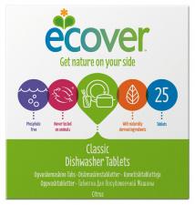ECOVER indaplovių tabletės, 500 g (25 tab.) ir 1400 g (70 tab.)