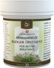 Herbamedicus augalinis Barsukų tepalas (geresniam kvėpavimui), 125ml