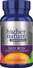 Higher Nature maisto papildas True Food Easy Iron, 90 kapsulių