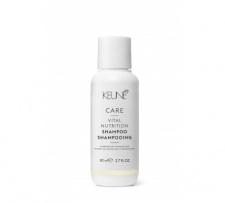 Šampūnas sausiems, pažeistiems plaukams VITAL NUTRITION KEUNE CARE (kelioninis), 80 ml