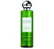 KEUNE šampūnas ploniems ir retėjantiems plaukas, suteikiantis  energijos SO PURE ENERGIZING, 250 ML