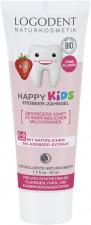 LOGONA Vaikiškas dantų valymo gelis su braškių aromatu Logodent Happy Kids, 50 ml