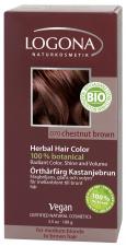 LOGONA Natūralūs augaliniai plaukų dažai Chestnut Brown Herbal Hair Colours, 100 g