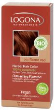 LOGONA Natūralūs augaliniai plaukų dažai 040 Flame red Herbal Hair Colours, 100 g