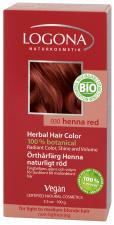 LOGONA Natūralūs augaliniai plaukų dažai HENNA RED Herbal Hair Colours, 100 g