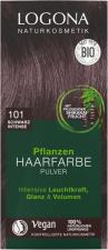 LOGONA Augaliniai plaukų dažai 101 Herbal Hair Dye Powder Black Intense 2 x 50 g