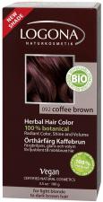 Logona Natūralūs augaliniai plaukų dažai COFFE BROWN Herbal Hair Colours, 100 g