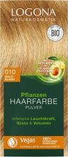 LOGONA augaliniai plaukų dažai 010 Golden Blond Herbal Hair Dye Powder, 2 x 50 g