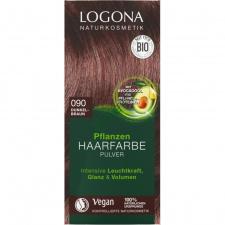 LOGONA Natūralūs augaliniai plaukų dažai 090 Dark Brown, 2 x 50 g