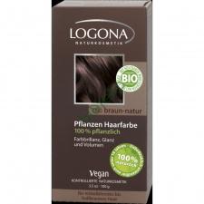 LOGONA Natūralūs augaliniai plaukų dažai 080 Natural Brown Herbal Hair Colours, 100 g