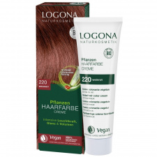 Logona Augaliniai kreminiai plaukų dažai Herbal Hair Color Cream 220 Wine red, 150 ml
