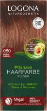 LOGONA augaliniai plaukų dažai 060 Nut Brown Herbal Hair Dye Powder, 2 x 50 g