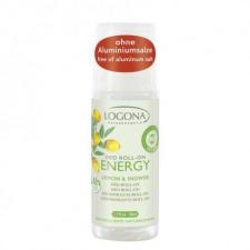 Logona rutulinis dezodorantas su citrinomis ir imbieru  Energy, 50 ml