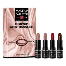 MAKE UP FOR EVER mini rinkinys lūpoms 4 vnt. Lustrous Artist Rouge Set