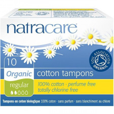 NATRACARE tamponai Regular, 10 vnt.