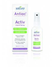 SALCURA purškiama priemonė į aknę linkusiai odai Antiac Activ Liquid Spray, 50 ml