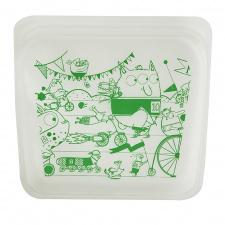 Stasher daugkartinio naudojimo silikoninis sumuštinių maišelis  Monstriukai, 1 vnt