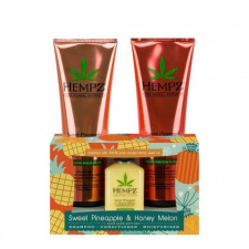 Hempz plaukų priežūros rinkinys ir kūno losjonas su ananasų ekstraktu, 265 ml + 265 ml + 66 ml