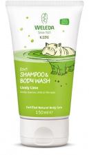 """WELEDA vaikiškas šampūnas ir prausiklis Kids 2 in 1 """"Lively Lime"""", 150 ml"""