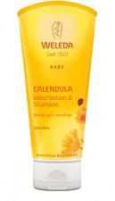 WELEDA vaikiškas šampūnas ir kūno prausiklis su medetkomis Calendula Baby Wash & Shampoo, 200 ml