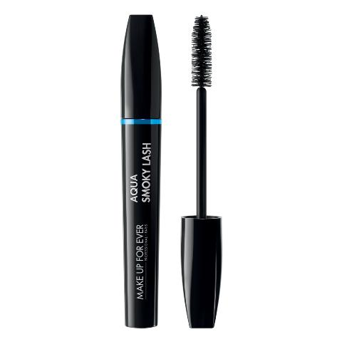 MAKE UP FOR EVER vandeniui atsparus blakstienų tušas (tankinantis, riečiantis, ilginantis) Aqua Smoky Waterproof Lash, 7 ml