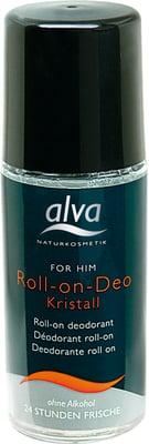 ALVA rutulinis dezodorantas vyrams su alūno kristalais FOR HIM Kristall, 50 ml