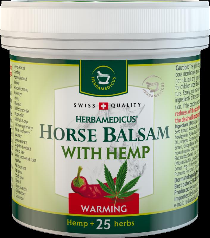 Herbamedicus arklių balzamas – šildantis su kanapių ekstraktu, 250ml
