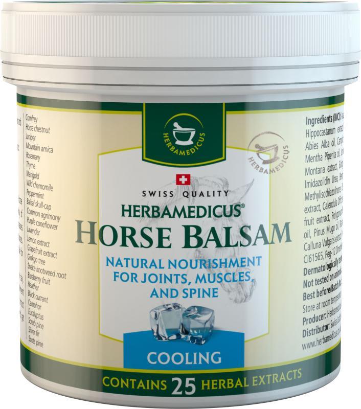 Herbamedicus arklių balzamas - šaldantis (sąnariams, raumenims ar stuburui), 125 arba 250 ml