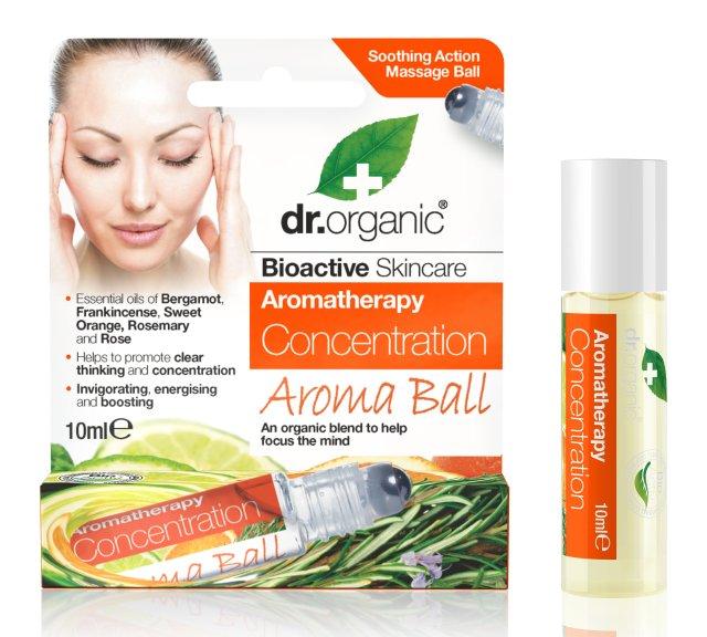 Dr.Organic Aromaterapinis rutuliukas Concentration, 10 ml