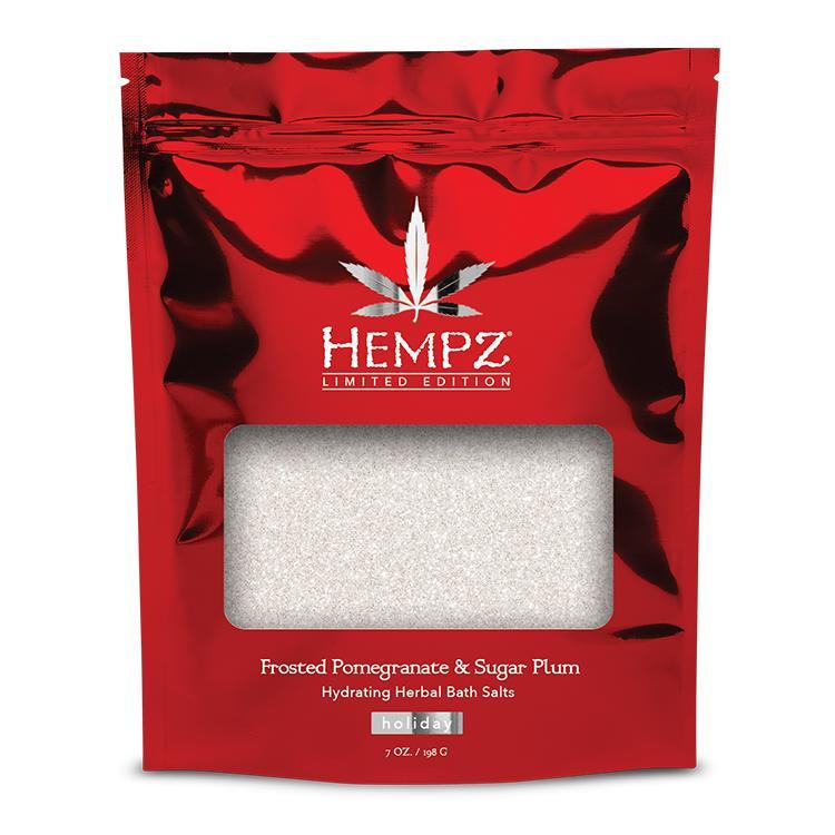 """HEMPZ vonios druska """"Frosted Pomegranate & Sugar  Plum"""", 198 g"""