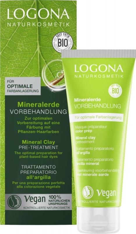LOGONA  Priemonė prieš plaukų dažymą su mineraliniu moliu Mineral Clay Pre-Treatment, 100 ml
