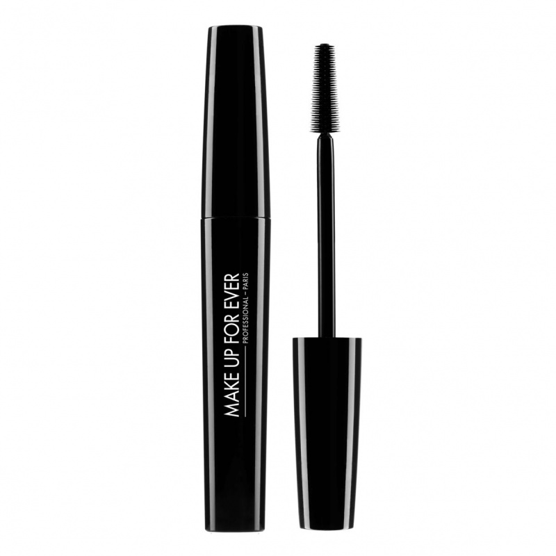 MAKE UP FOR EVER Blakstienų tušas, juodas, ilginantis  SMOKY STRETCH, 7 ml