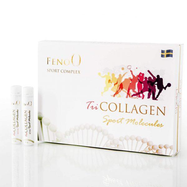 Kalogenas FenoQ Tricollagen Sport Mollecules (geriamas), 14 x 25 ml ir 14 x 14 ml