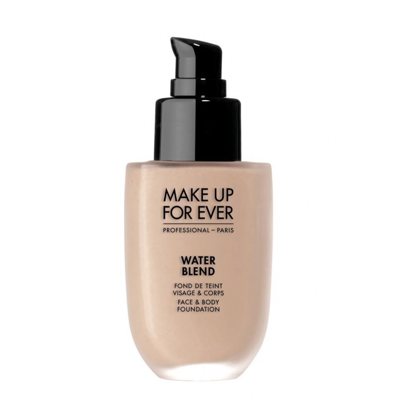 Vandeniui atsparus makiažo pagrindas veidui ir kūnui WATER BLEND Face & Body Foundation MAKE UP FOR EVER, 50 ml