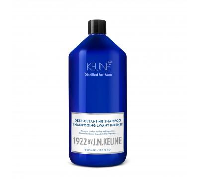 KEUNE giliai valantis plaukų šampūnas 1922 by J. M. DEEP CLEANSING, 250 ml ir 1000 ml