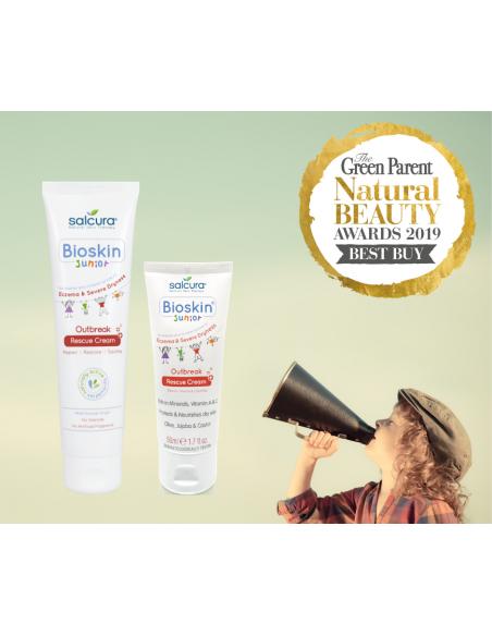 SALCURA atstatomasis kremas probleminei vaikų veido ir viso kūno odai Bioskin Junior Outbreak Rescue Cream, 150 ml